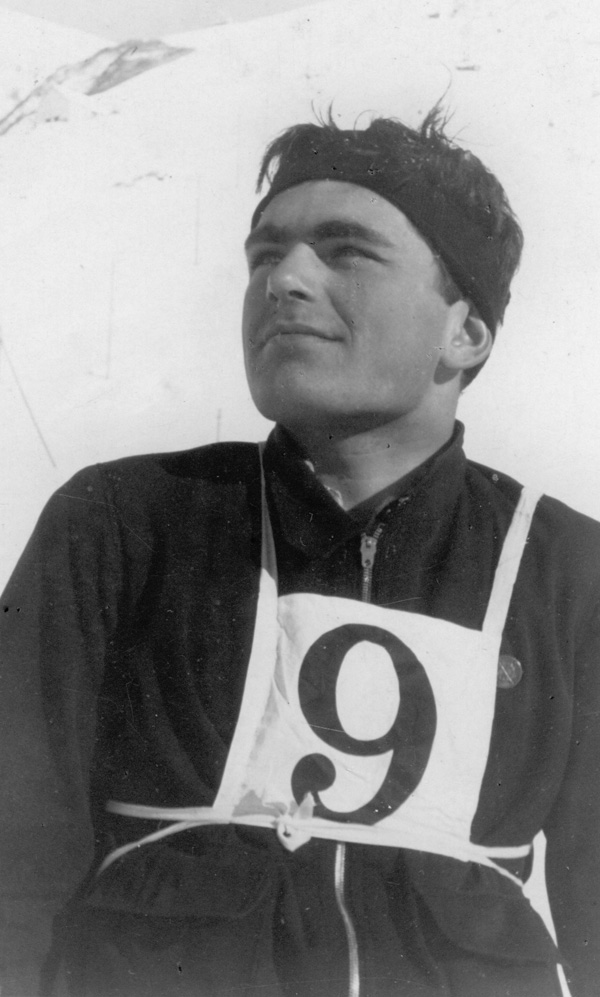 Portrait of Malcolm Horsfield in ski competition